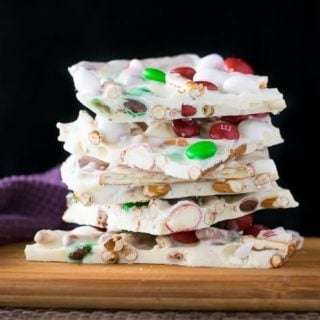 `M&M's Christmas Bark with Pretzels