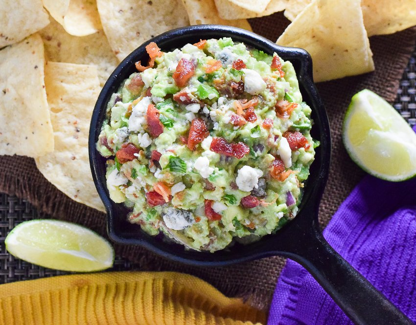 Blue Cheese and Bacon Guacamole Dip - Fox Valley Foodie