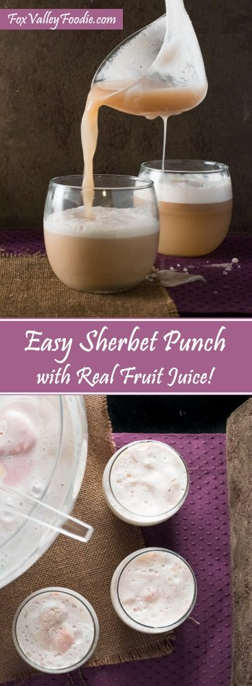Easy Sherbet Punch with Real Fruit Juice