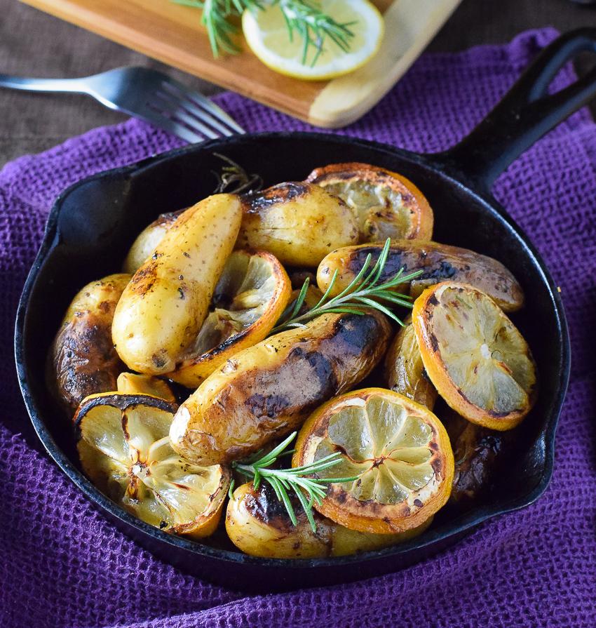 Rosemary and Lemon Roasted Fingerling Potatoes - Fox Valley Foodie