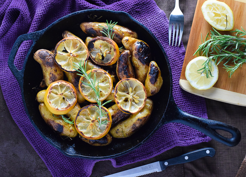 ... Rosemary and Lemon Roasted Fingerling Potatoes are the perfect side