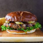 Black Bean Burger recipe with Seared Apple and BBQ Sauce