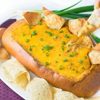 Easy Chili Cheese Dip Bread Boat
