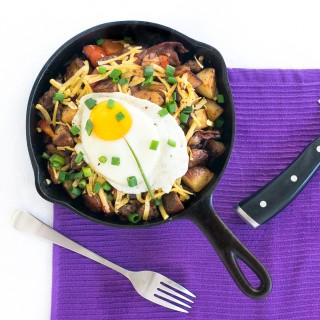 Red Potato Breakfast Hash with Smoked Gouda