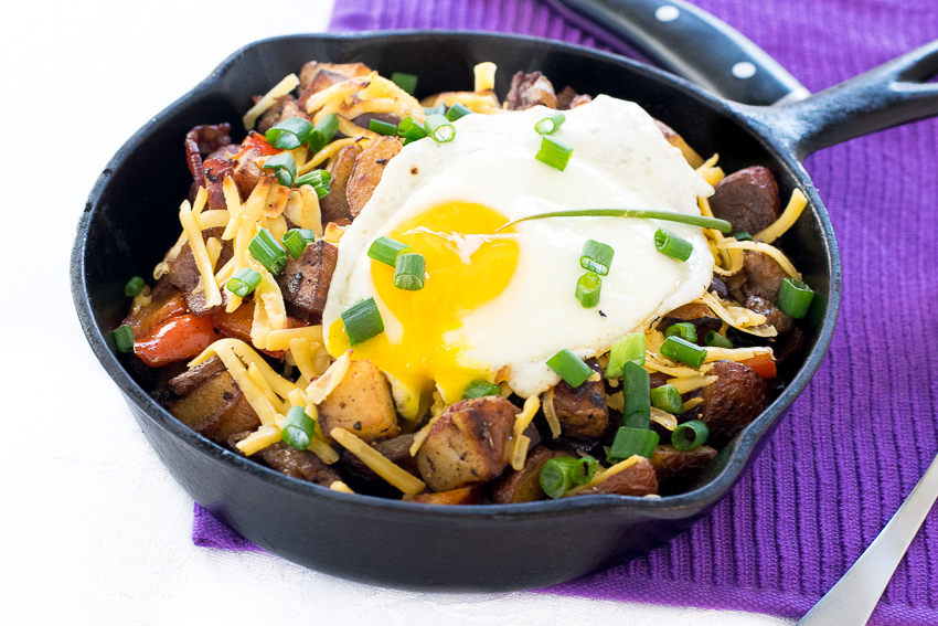 Red Potato Breakfast Hash with Smoked Gouda recipe