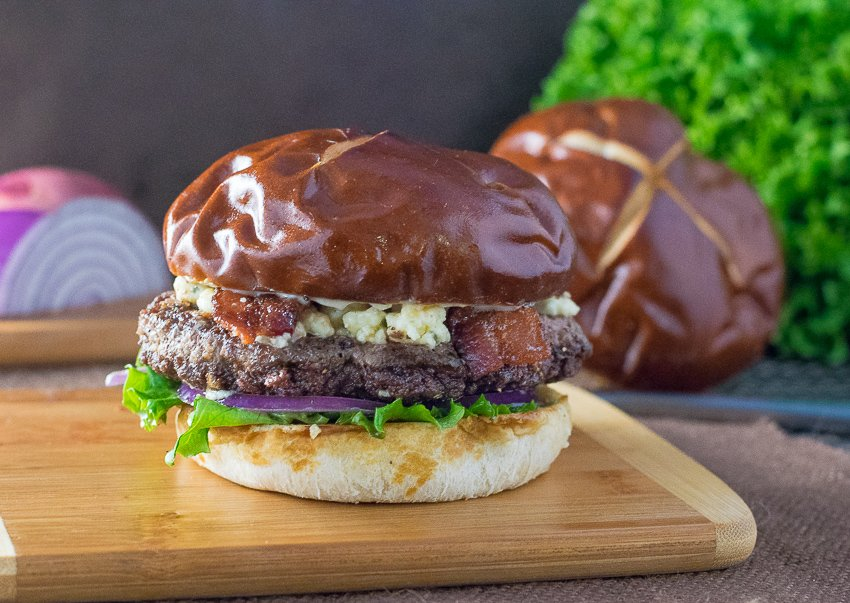 Bacon Blue Cheese Burger with Balsamic Mayo - Fox Valley Foodie