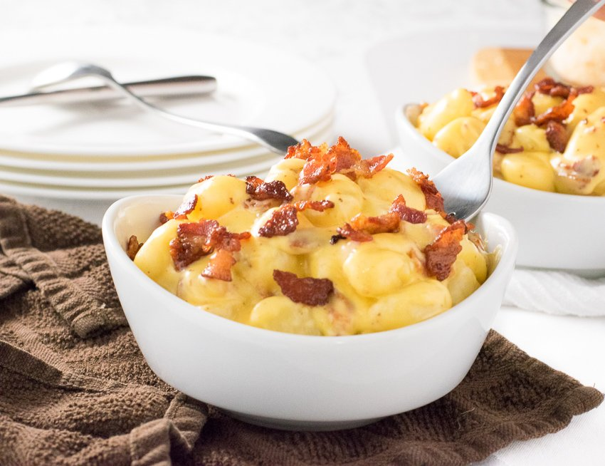 Bacon Mac and Cheese Gnocchi recipe