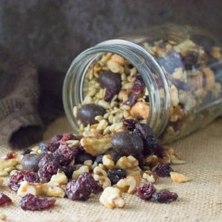 Blueberry Vanilla Trail Mix with Walnuts and Cashews recipe