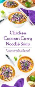 Chicken Coconut Curry Noodle Soup recipe - Asian Soup