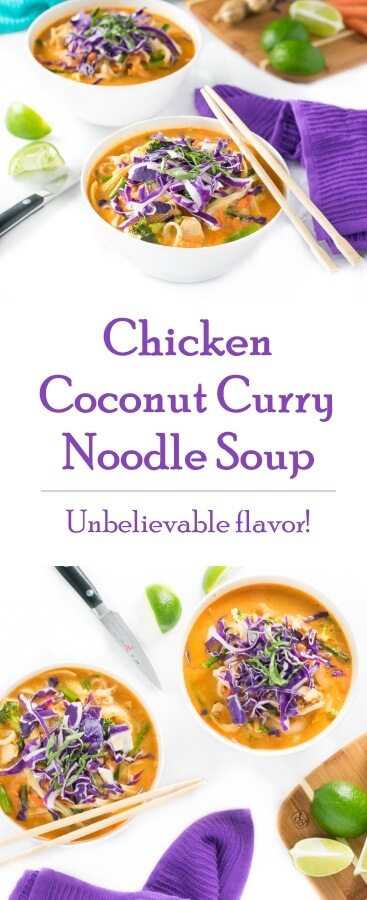 Chicken Coconut Curry Noodle Soup recipe - Asian Soup