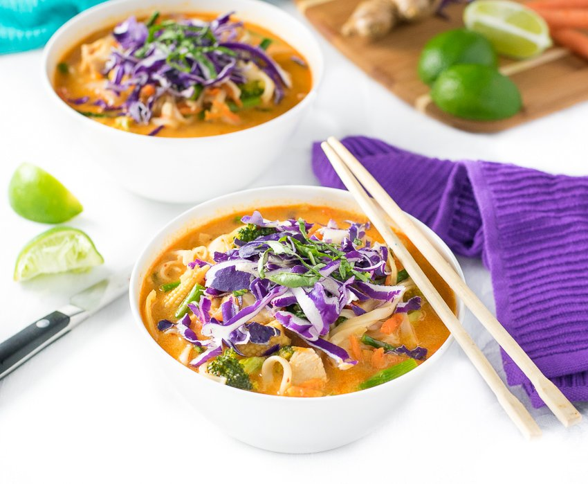 Chicken Coconut Curry Noodle Soup - Fox Valley Foodie