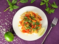 Coconut Lime Chicken Curry with Rice