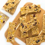 Peanut Butter Granola Bars with Cranberries and Almonds recipe