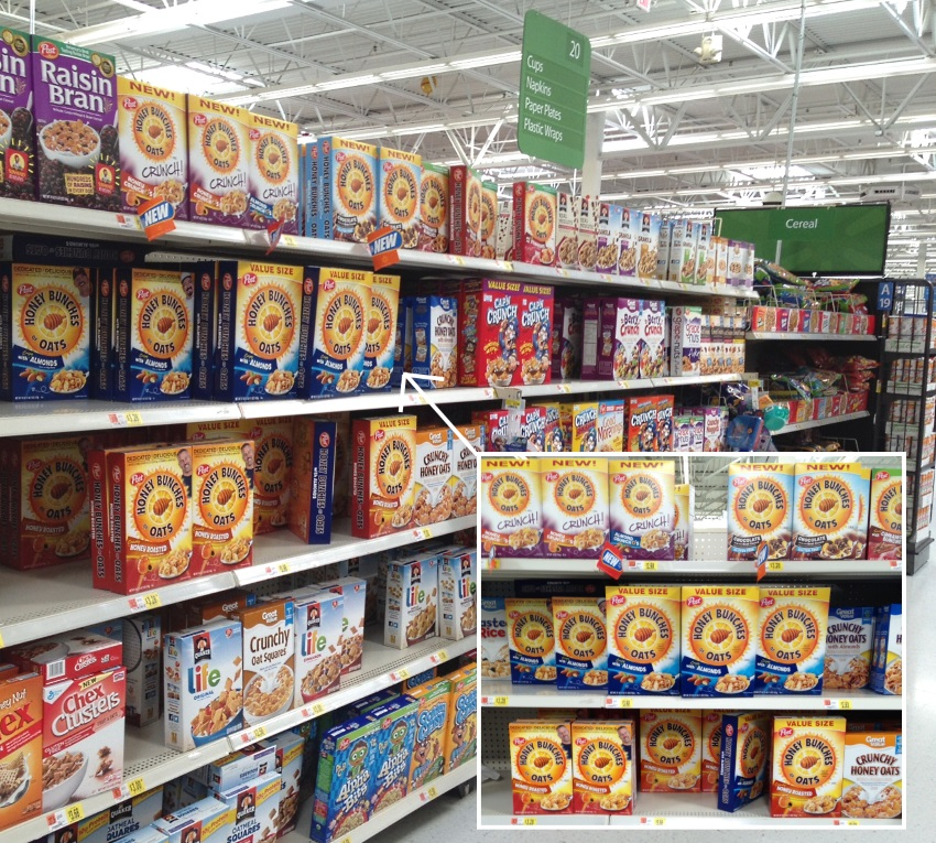 Post Cereal at Walmart