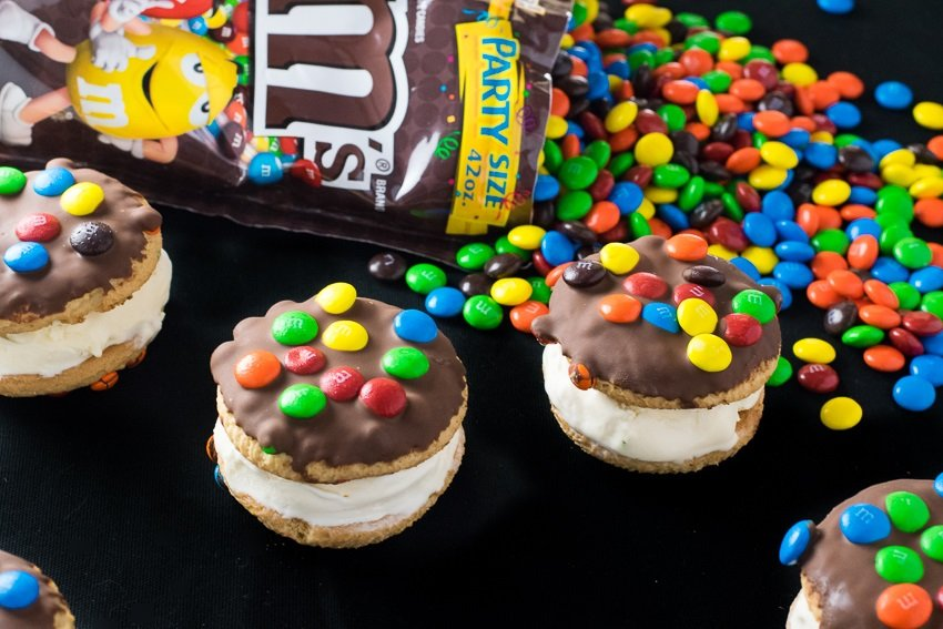 Chocolate Dipped M&M® Ice Cream Cookie Sandwiches Hasbro