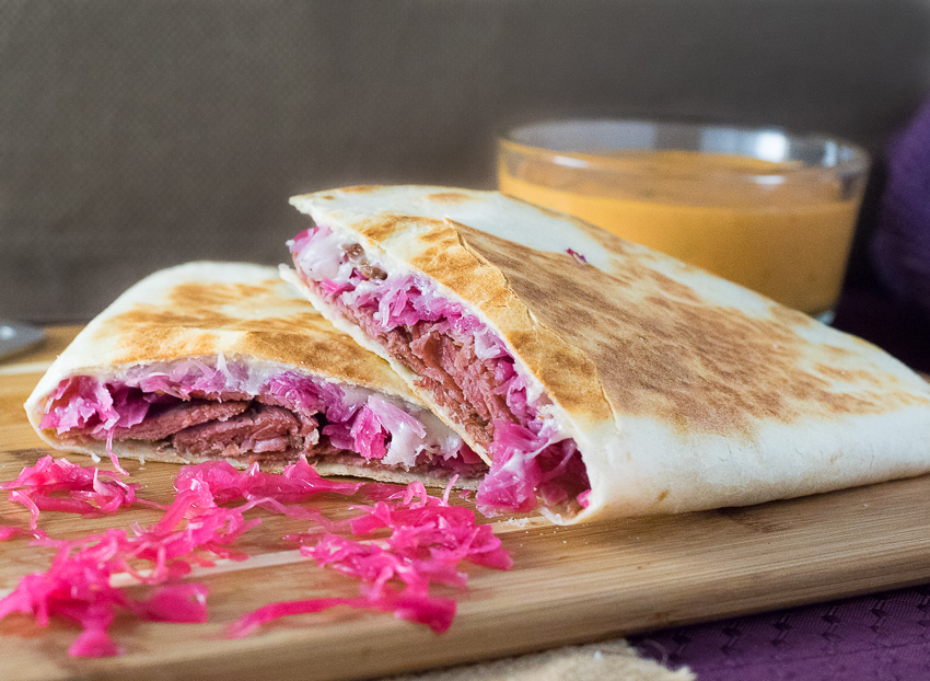 Reuben Quesadilla - Fox Valley Foodie