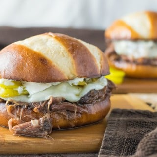 Crock Pot Mississippi Roast Sandwiches