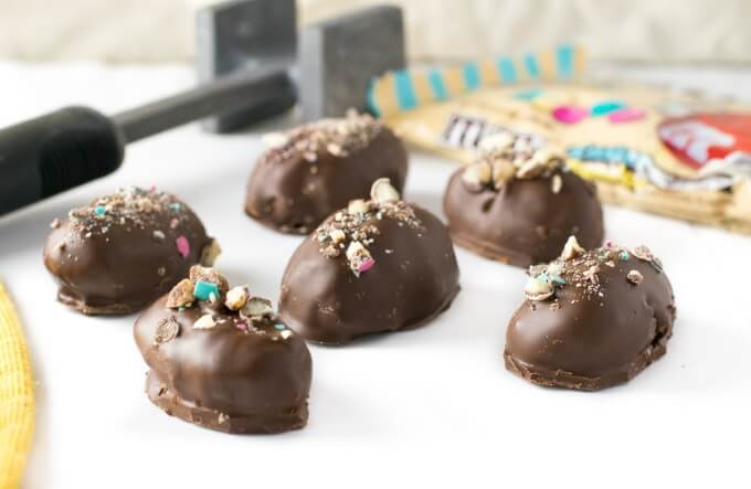 M&Ms Cookie Dough Truffles Recipe