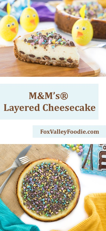 M&M's® Layered Cheesecake