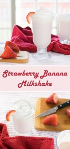Strawberry Banana Milkshake recipe #dessert #milkshake