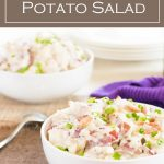 This Blue Cheese Potato Salad with Bacon recipe is perfect for your next potluck or party. #appetizer #potatosalad