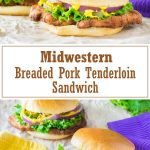 Breaded Pork Tenderloin Sandwich recipe #midwestern #pork #sandwich #lunch