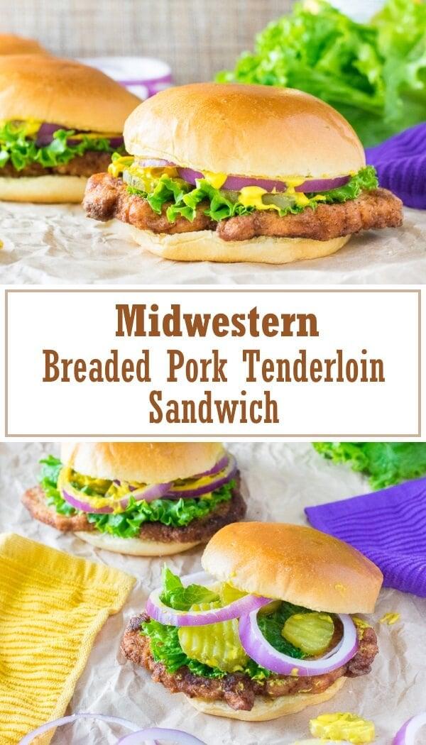 Breaded Pork Tenderloin Sandwich recipe #midwestern #pork #sandwich #lunch