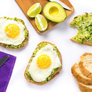 Open-Faced Avocado Sandwich with Egg and Parmesan