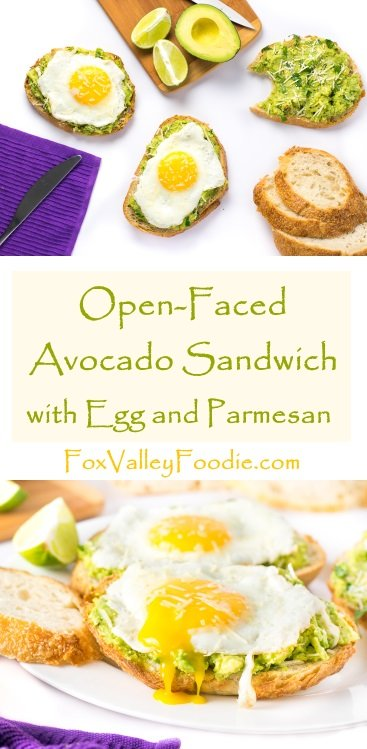 Open Faced Avocado Sandwich with Egg and Parmesan Recipe