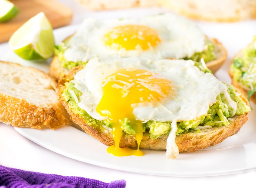 Open-Faced Avocado Sandwich with Egg and Parmesan - Fox ...