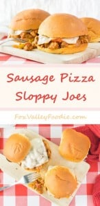 Sausage Pizza Sloppy Joes Recipe - Easy Meal