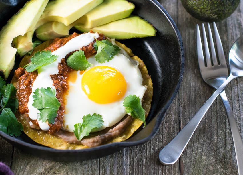 Huevos Rancheros with Chorizo Sauce Recipe