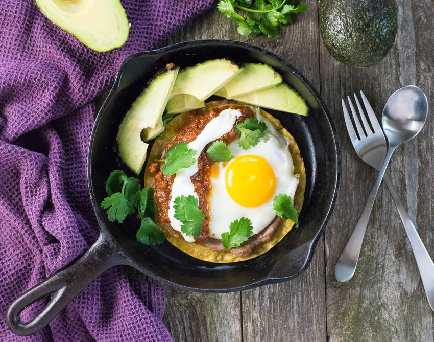 Huevos Rancheros with Chorizo Sauce - Fox Valley Foodie