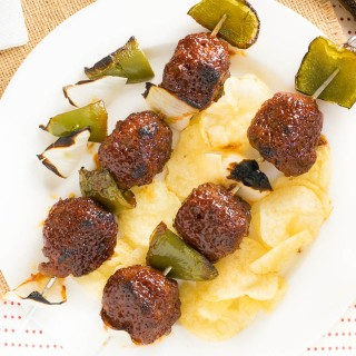 BBQ Meatball Kabobs Recipe