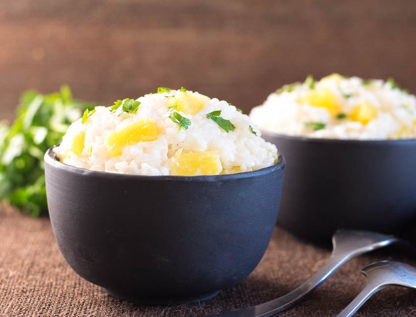 Coconut Milk Rice with Pineapple