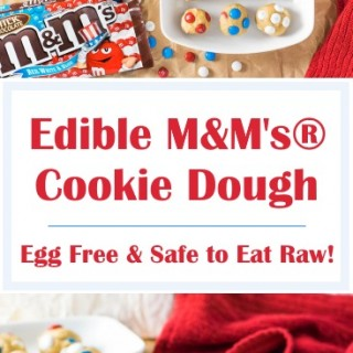 Edible M&M's® Cookie Dough - Egg Free & Safe to Eat Raw