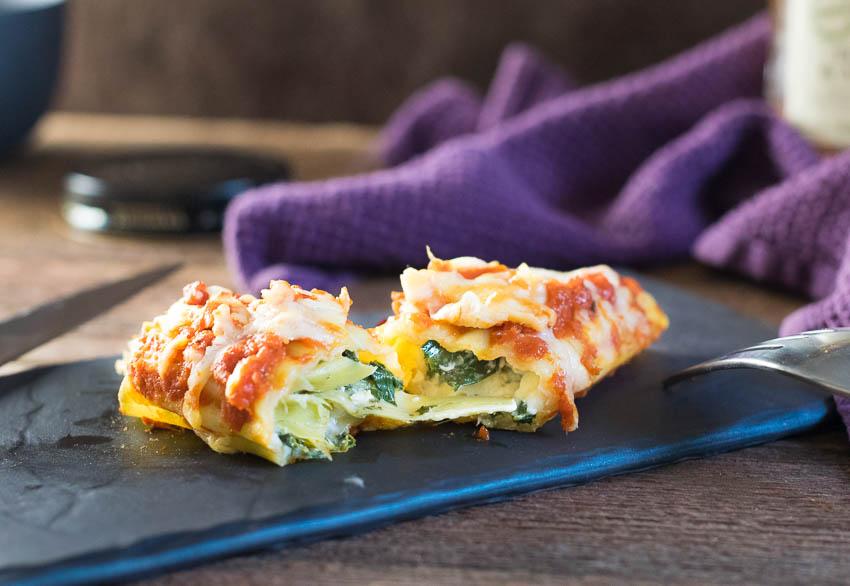 Spinach Artichoke and Chicken Manicotti