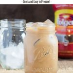 Creamy Vanilla Mocha Iced Coffee recipe #coffee #chocolate #vanilla