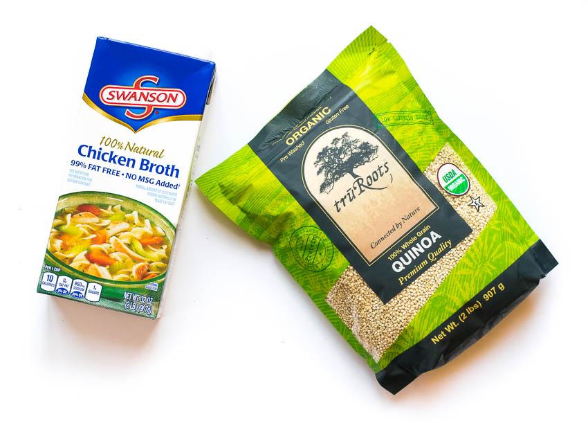 Swanson Chicken Broth and truRoots Quinoa