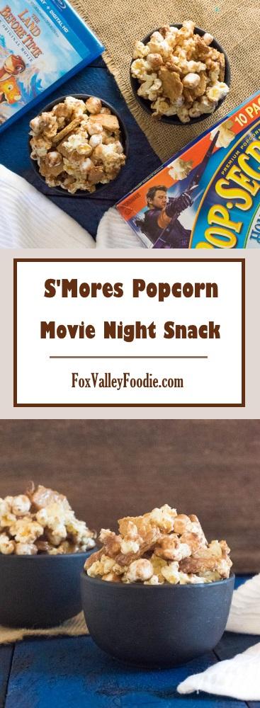 S'Mores Popcorn Movie Night Snacks Recipe