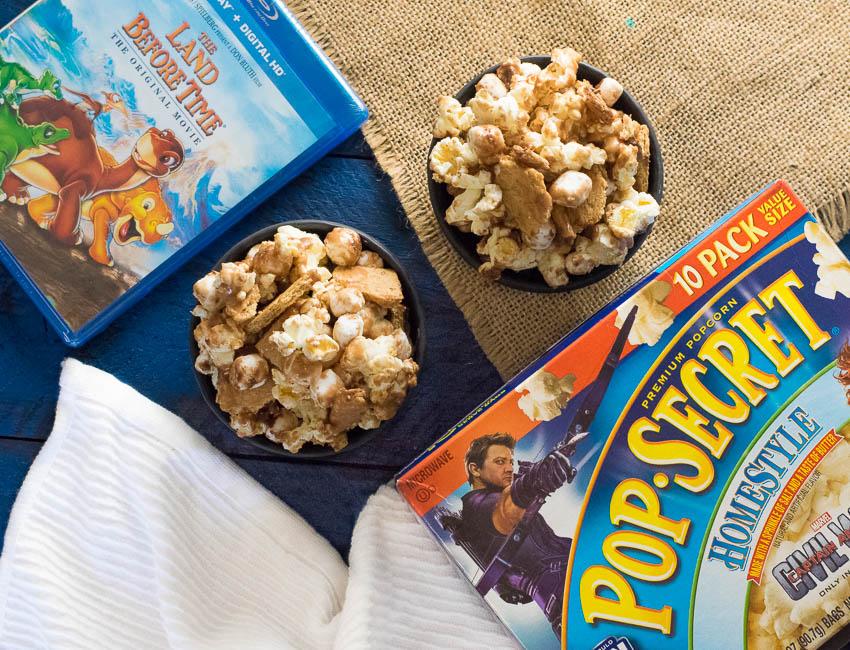 S'Mores Popcorn Movie Night Snacks