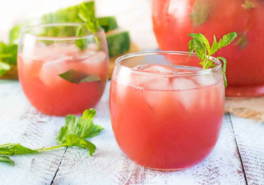 Watermelon Grapefruit Agua Fresca with Mint Recipe