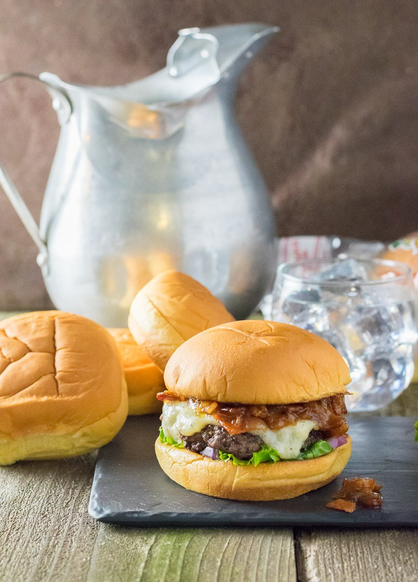 Bacon Jam Burger with Gruyere Cheese