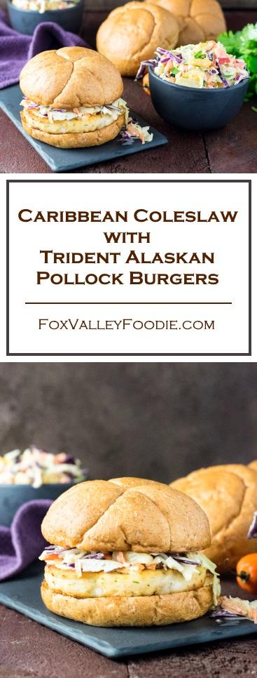 Caribbean Coleslaw with Trident Alaskan Pollock Burgers