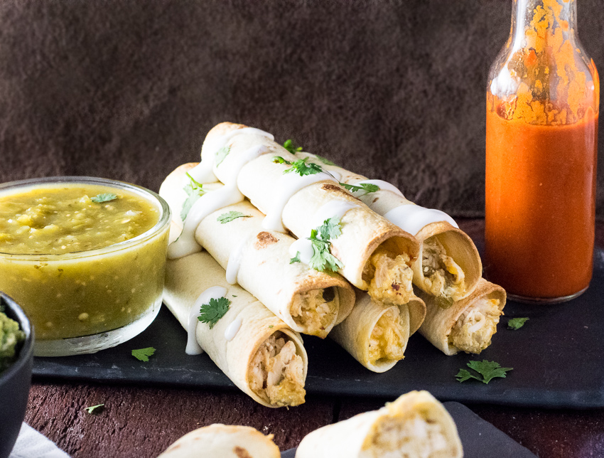 Healthy Baked Chicken Taquitos Recipe