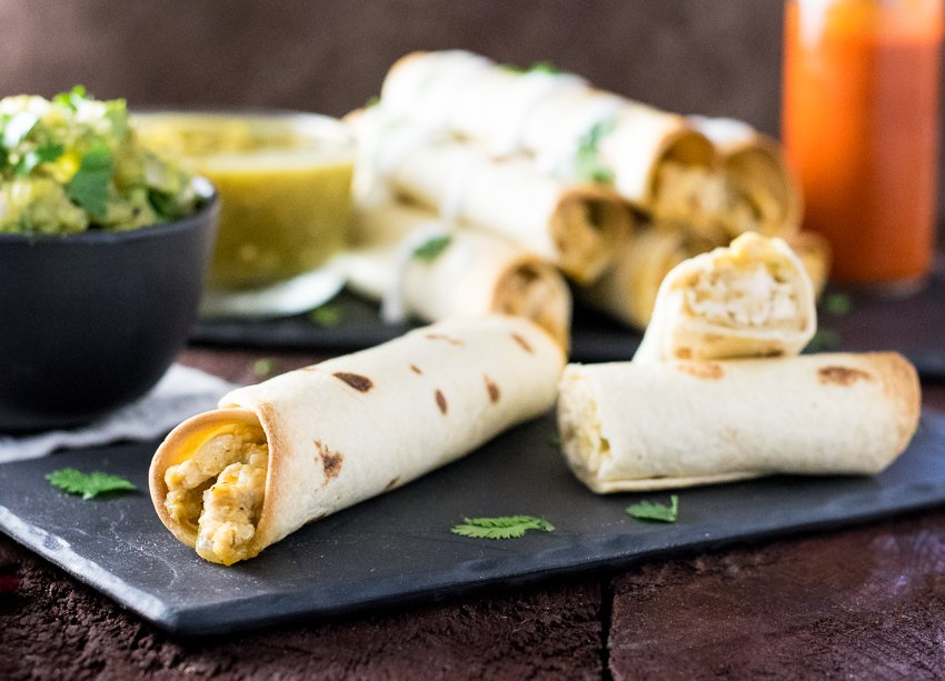 Healthy Baked Chicken Taquitos - Fox Valley Foodie