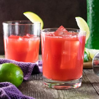 Watermelon Citrus Cocktail Mixed Drink