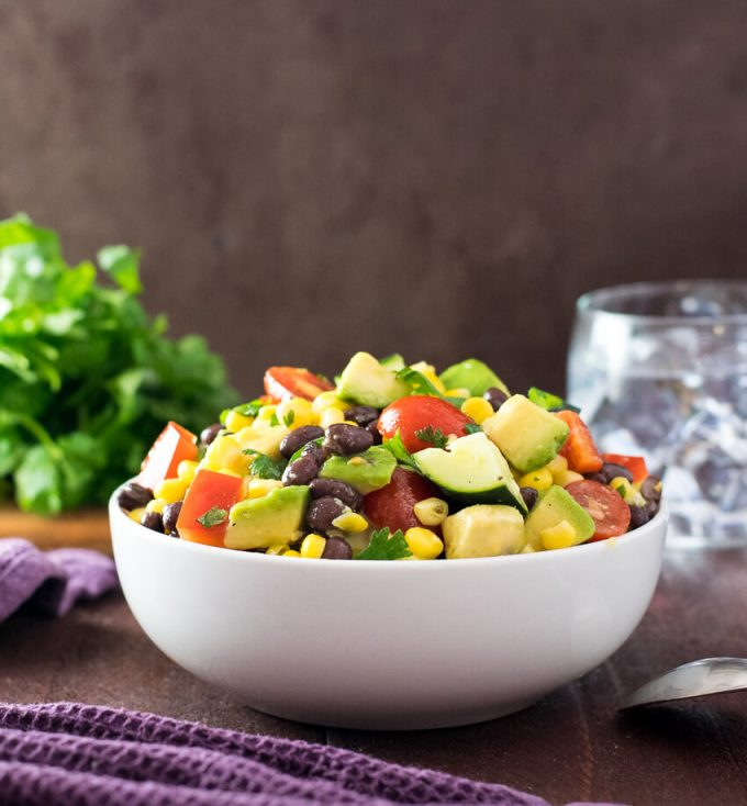 Avocado Black Bean Salad Healthy