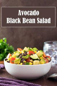 Avocado Black Bean Salad Recipe #vegetarian #vegan #salad #healthy