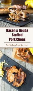 Bacon and Gouda Stuffed Pork Chops recipe